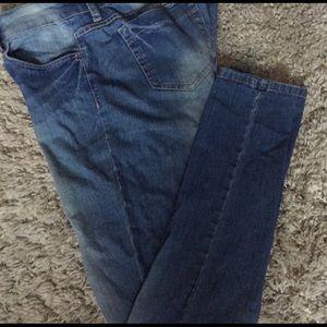 BONGO Jr Ladies Denim Skinny Ankle Jeans